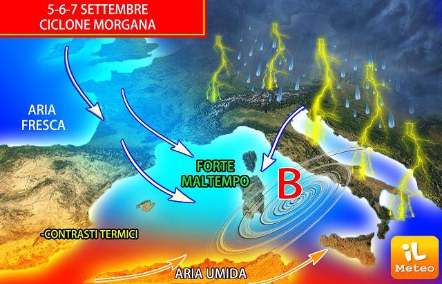 Afa e caldo poi il maltempo: arriva il ciclone Morgana