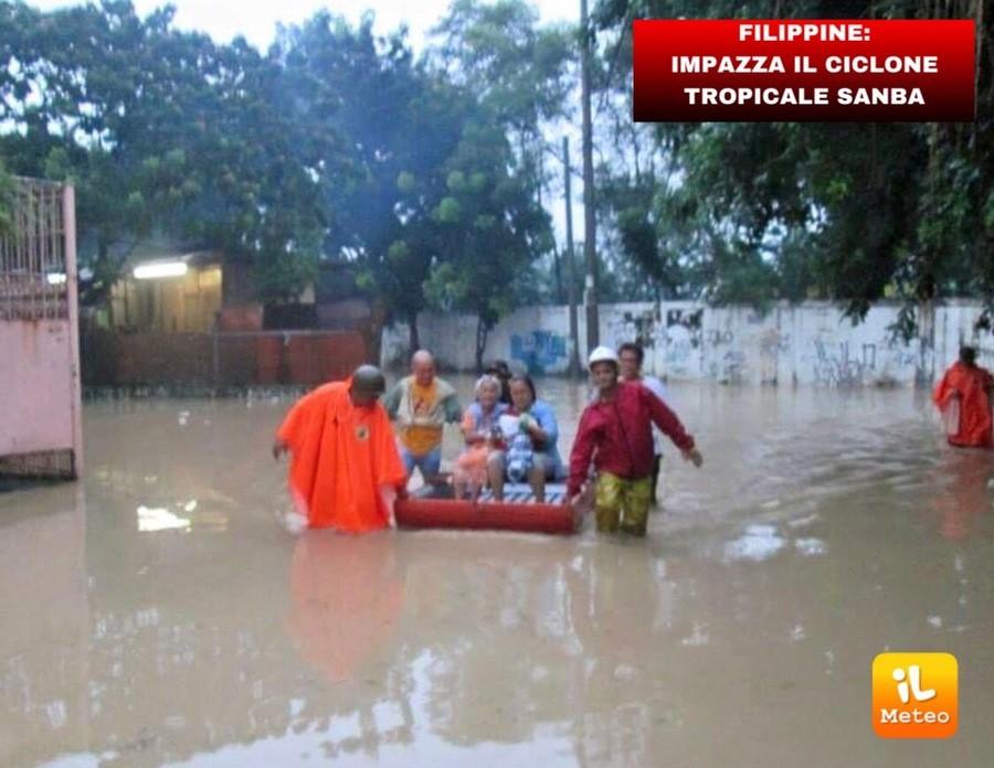 Ciclone tropicale Sanba, danni e vittime in diverseprovince delle Filippine