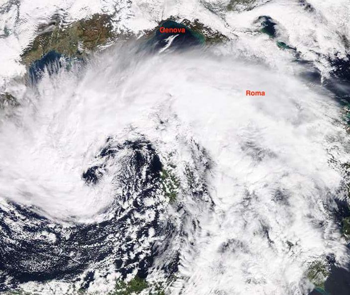 Ciclone mediterraneo attivo oggi 20 Marzo 2018
