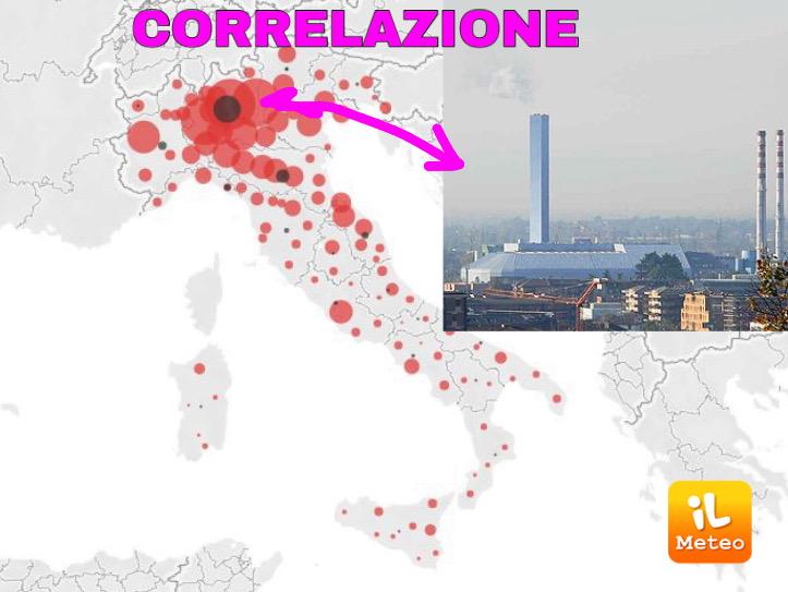 La mappa dell'epidemia in Italia