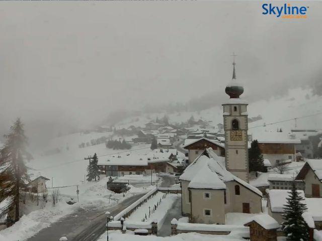 Fantastiche nevicata a Corvara sulle Dolomiti