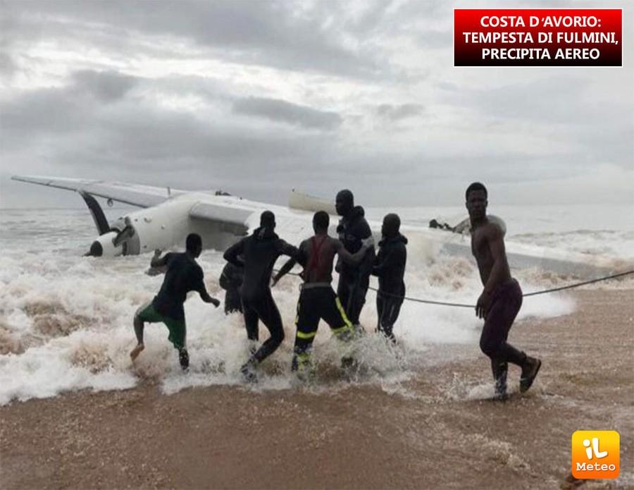 Costa d'Avorio, avverse condizioni meteo alla base dello schianto di un aereo cargo