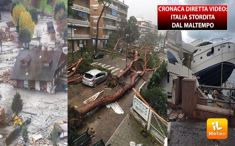 Meteo CRONACA DIRETTA VIDEO: Italia, stordita dal maltempo, si contano i danni, ma non è finita