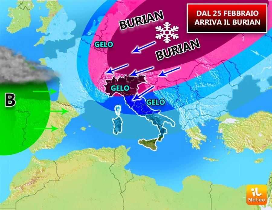 Previsioni meteo, in arrivo il grande gelo dalla Russian Federation