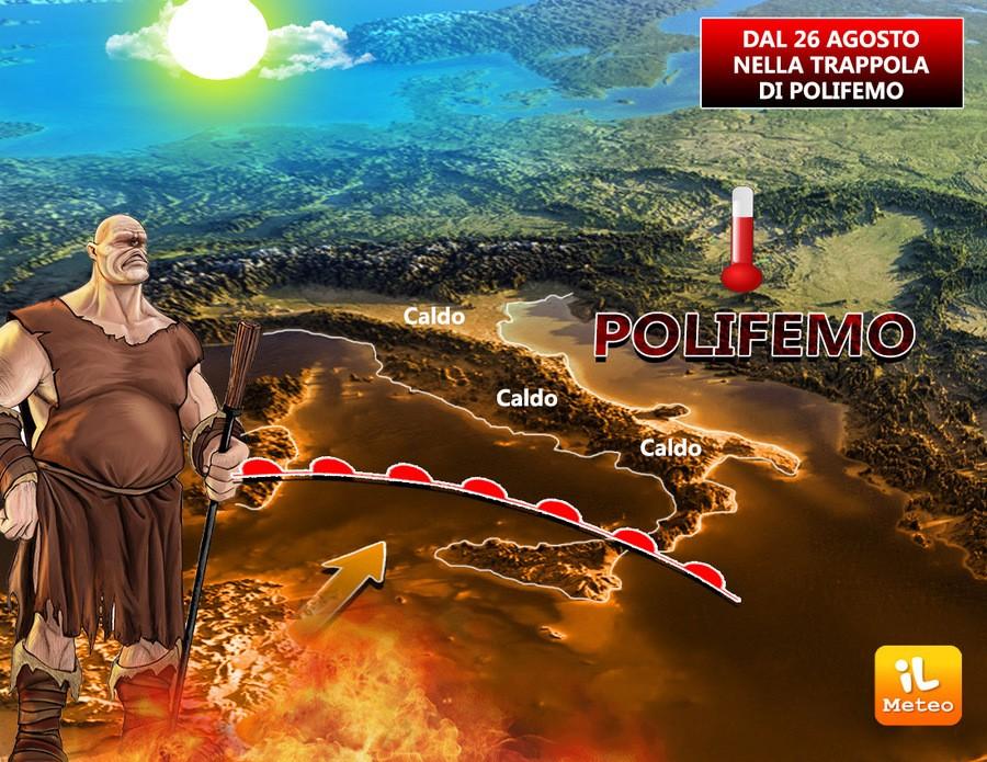Imminente arrivo dell'anticiclone Polifemo