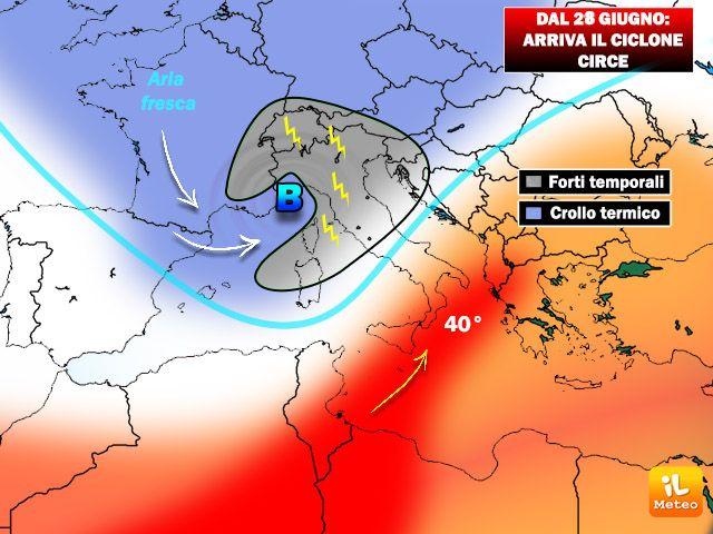 Il ciclone Circe pronto all'impatto dal 28 Giugno