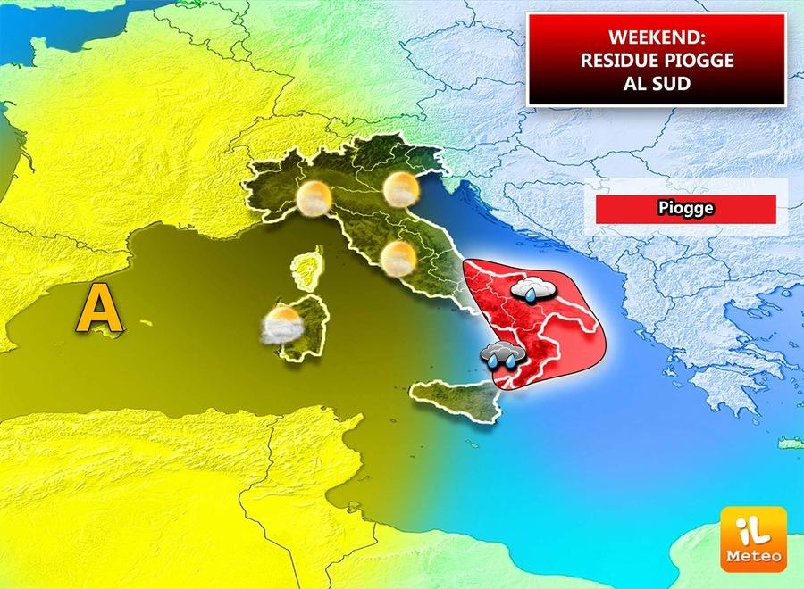 Precipitazioni attese per Domenica 21 Gennaio