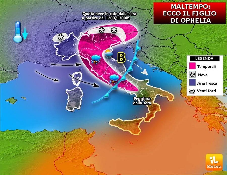 Situazione instabile su molte regioni