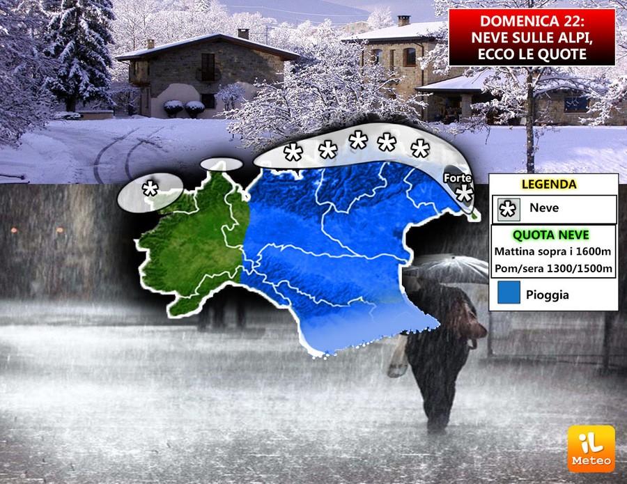 Torna la neve sulle Alpi