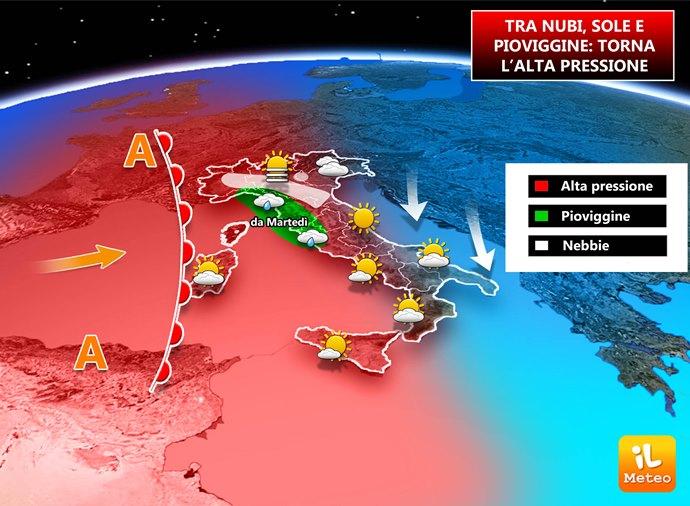 Pressione in aumento sull'Italia