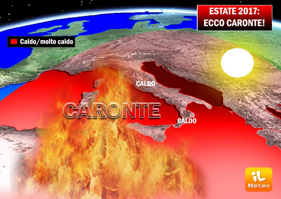 Seconda parte dell'estate con Caronte prevalente e possibile clima caldo e siccitoso