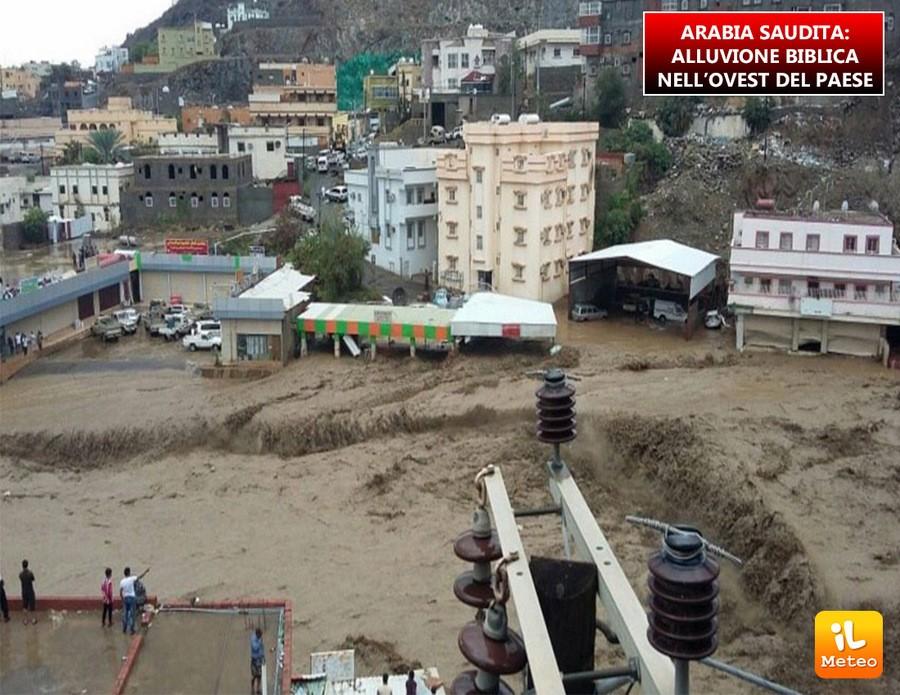 Arabia Saudita, alluvione biblica