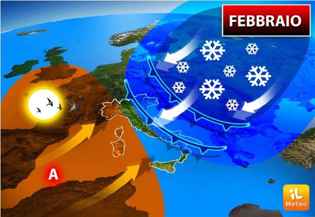 Şubat, ortalamanın üzerinde sıcaklıklarla tekrar başlayacak, ancak daha sonra bükülmeler hariç tutulamaz