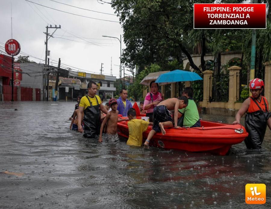 Filippine, forti piogge e una vittima nella città di Zamboanga
