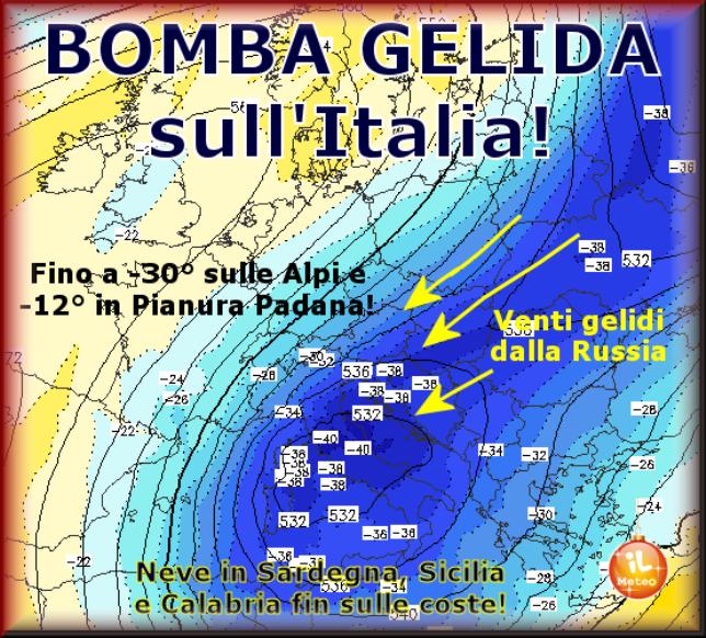 BOMBA GELIDA sull'ITALIA!