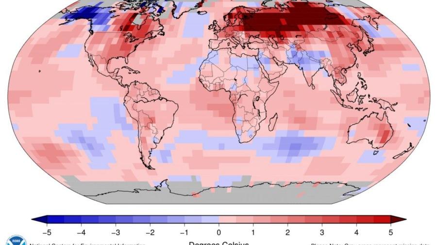 Gennaio 2020: il più caldo da quando si registrano i dati a livello mondiale (NOAA)