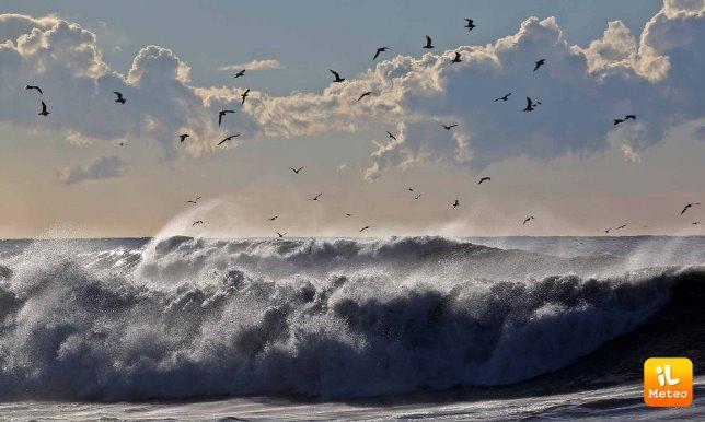 Immagini della mareggiata