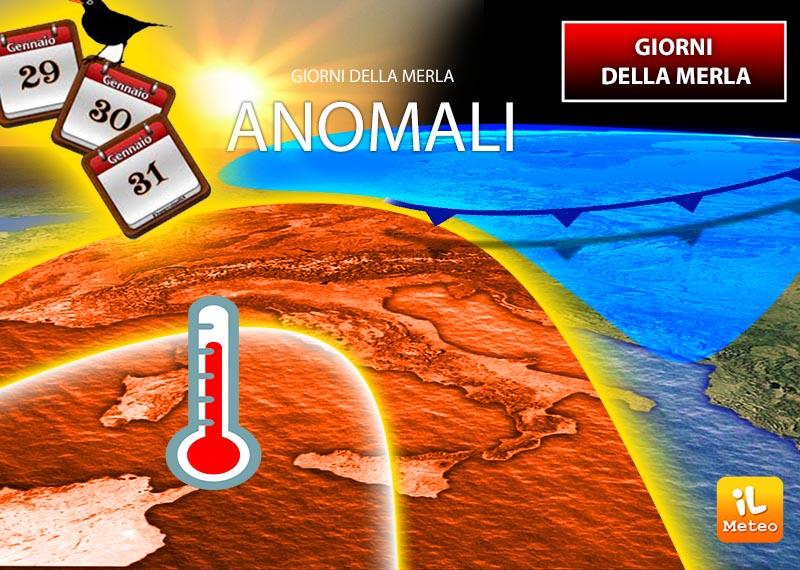 Prossima settimana più movimentata con i giorni della Merla piuttosto anomali