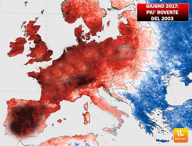 Giugno 2017 più caldo del 2003