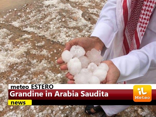 Arabia Saudita, intenso maltempo