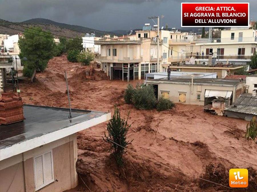 Disastrosa alluvione in Grecia
