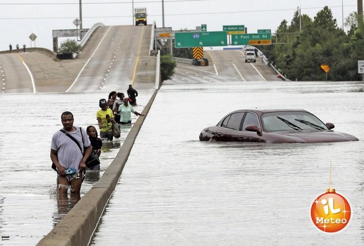 Houston devastata dall'uragano Harvey nell'estate 2017