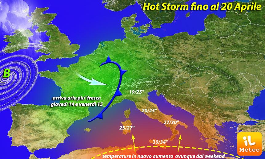 Hot Storm durerà fino al 20 Aprile