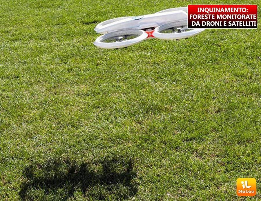 INQUINAMENTO: foreste, monitorate da droni e satelliti
