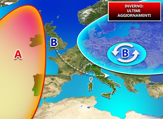 Possibile situazione in atmosfera per il prosieguo dell'inverno