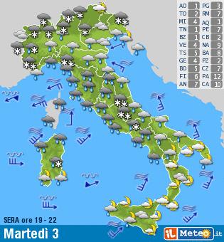 Cartina Meteorologica Dell Italia.Bomba Di Neve Sull Italia Arriva Il Ciclone Big Snow Ilmeteo It