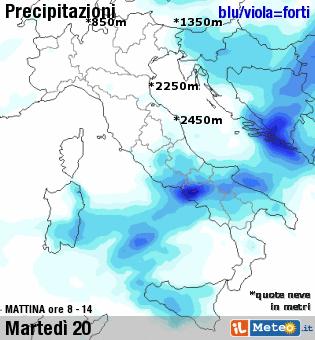 Previsioni meteo: al SUD, Sicilia e Sardegna maltempo da Martedì 20 Ottobre