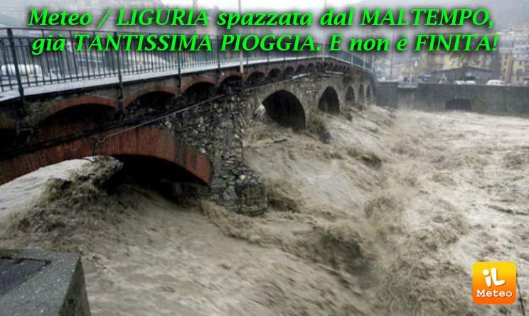 Maltempo in Liguria, allerta rossa sul Ponente La diretta