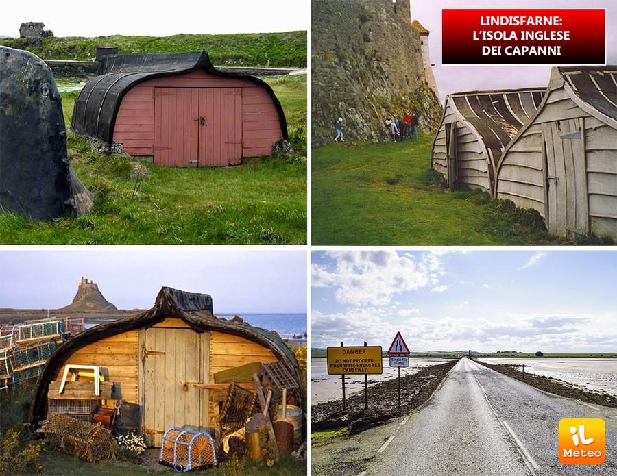 LINDISFARNE: l'isola inglese dei capanni
