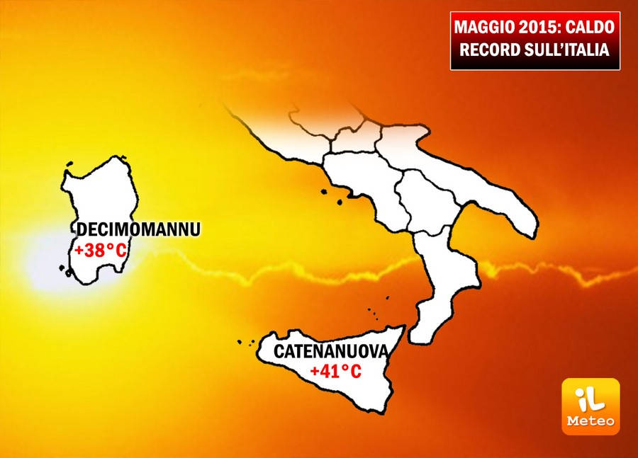 Maggio 2015, caldo record su alcune regioni italiane