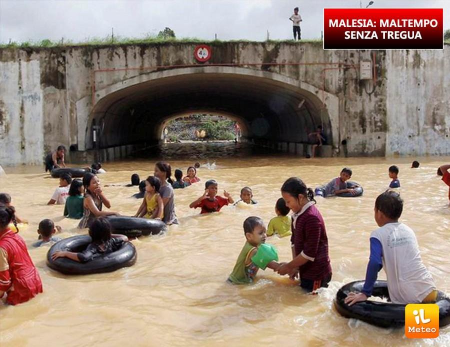 Malesia, super maltempo nei giorni scorsi