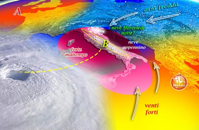 Meteo, arriva il ciclone Sirte: da lunedì è inverno