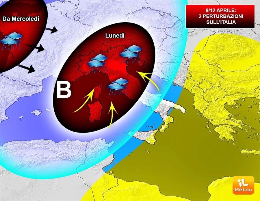 Meteo ~ il MALTEMPO entra nel vivo. NUBIFRAGI, tanta neve a 1000 metri