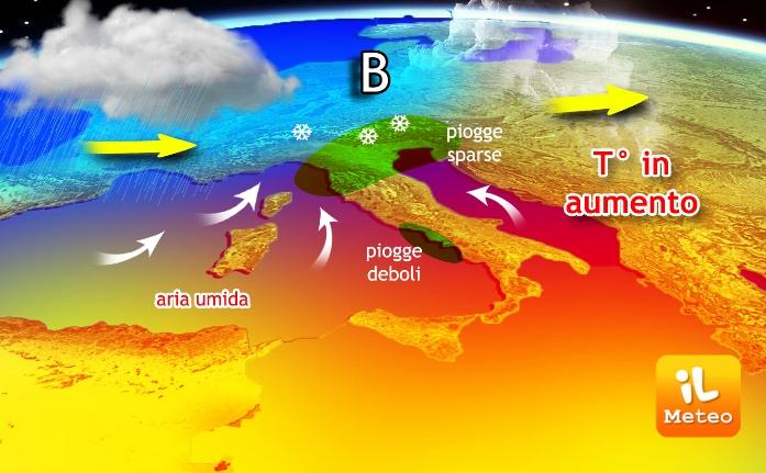 Previsioni meteo: arriva tantissima neve sulle Alpi. Pioggia al Centro-Nord