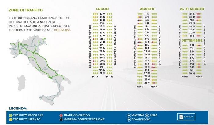 Italia Cartina Autostradale.Meteo Traffico La Stagione Entra Nel Vivo Ecco La Mappa Dei Bollini Rossi E Neri Per Le Vacanze Ilmeteo It