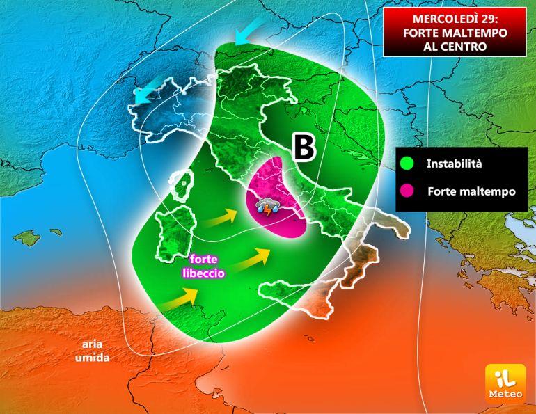 Precipitazioni intense attese sul Lazio