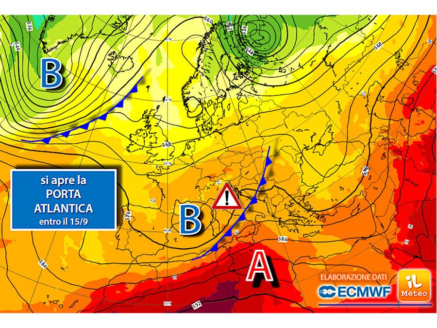 La porta atlantica si aprirà a metà mese: stanno arrivando tante piogge
