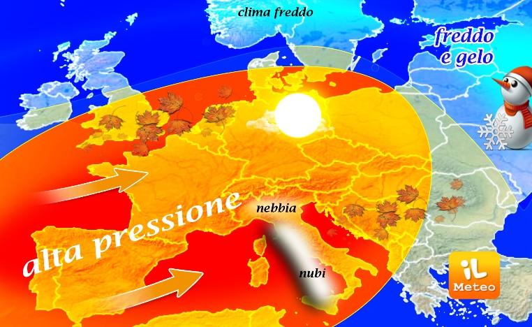 Previsioni meteo di domenica 11 dicembre