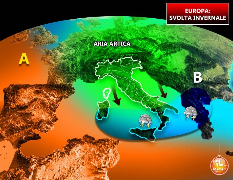 Europa, svolta invernale