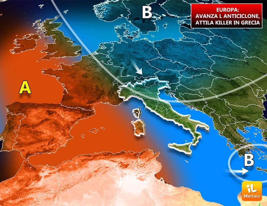 Europa, grave maltempo in Grecia mentre si fa strada l'anticiclone