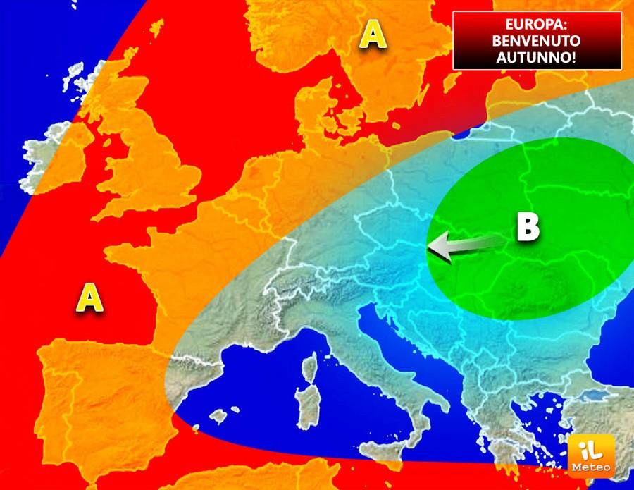 Europa, maltempo diffuso. Benvenuto autunno