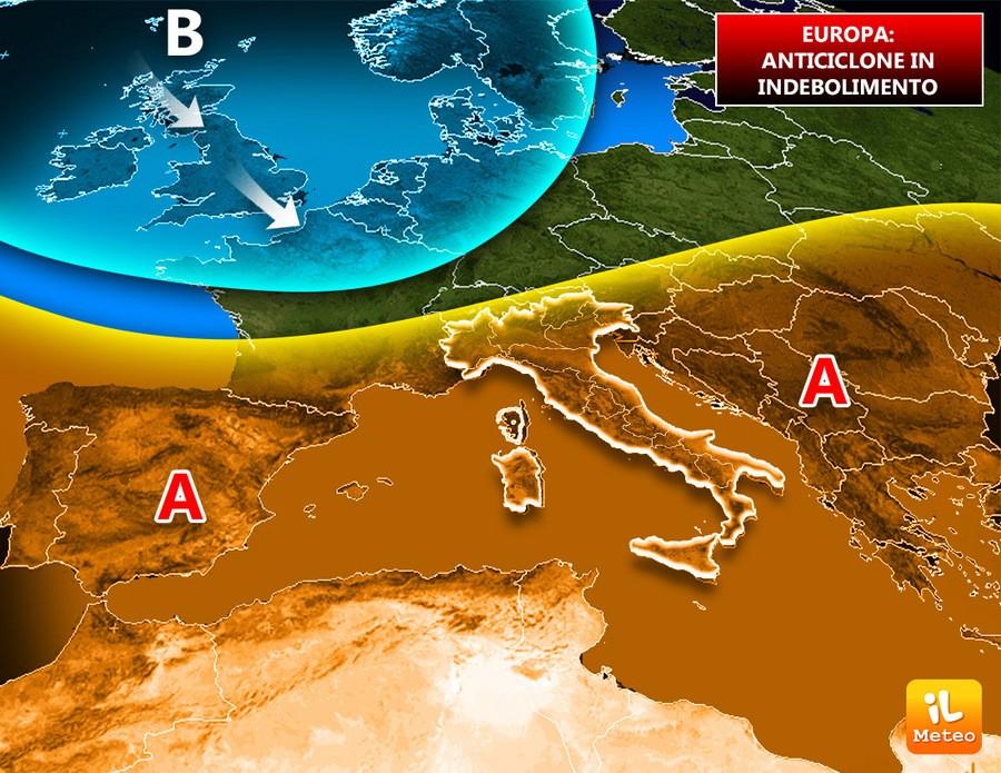 Previsioni meteo per l'Europa, in attesa di nuove incursioni gelide