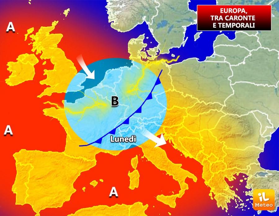 Europa, tra piogge e alta pressione