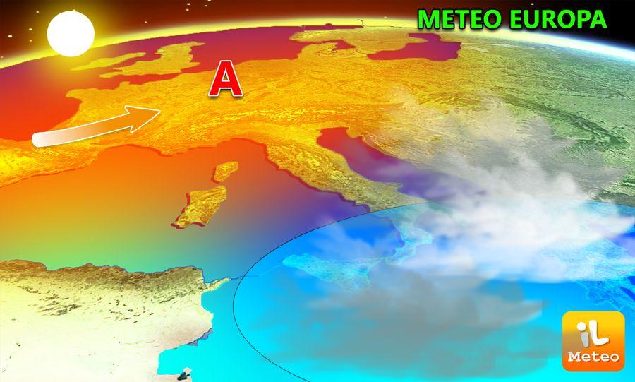 Alta pressione sull'Europa