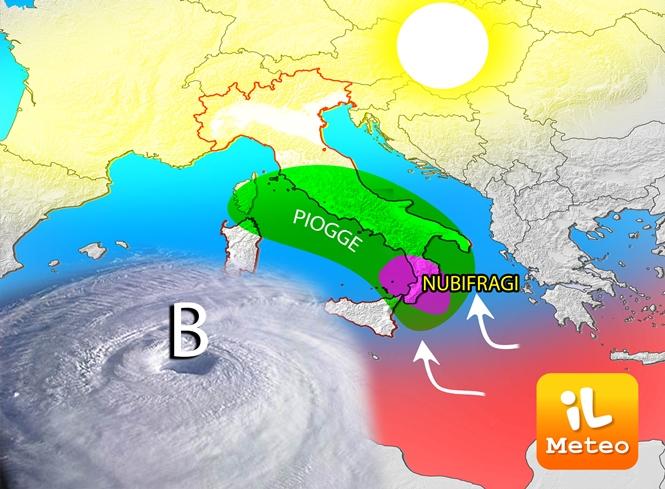 Maltempo al Centro-sud, allerta in Calabria