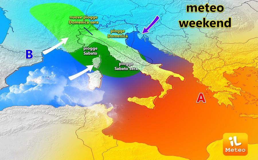 Weekend instabile al Nord